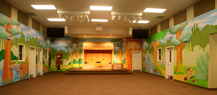 Woodland Children's Ministry Theme Environment